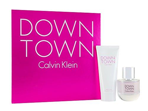 Calvin Klein Downtown 50 ml Eau de Toilette Spray plus 100 ml Körperlotion Geschenkset für Sie, 1er Pack (1 x 50 ml)