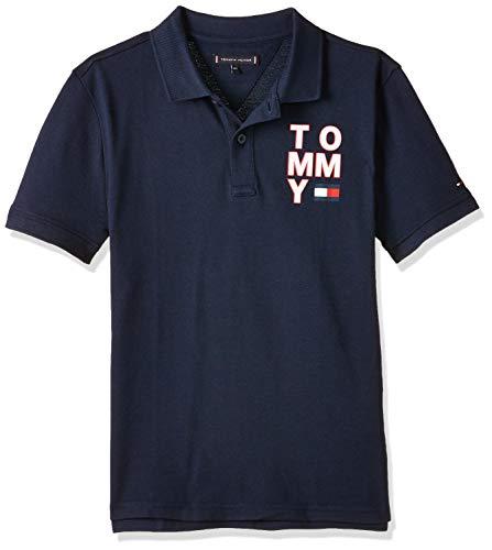 Tommy Hilfiger Jungen Graphic F/b Polo S/s Poloshirt, Blau (Blue Cbk), 110/116 (Herstellergröße: 116)
