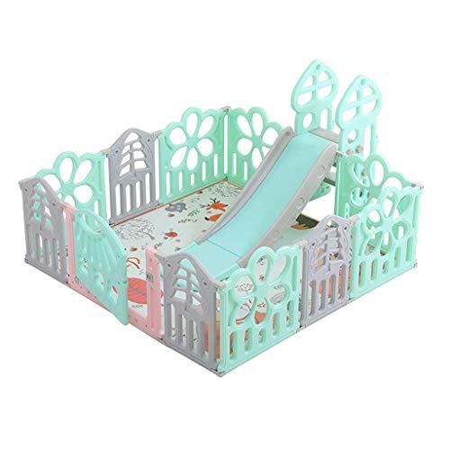 Relaxbx Baby-speelhek, plastic omheining, kruipende omheining van het interieur Belangrijkste veiligheids-plezier, baby-peuters