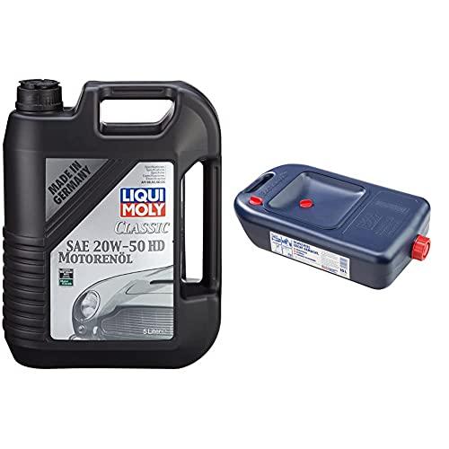 Liqui Moly 1129 Clásico Aceite Del Motor Sea 20 W-50 Hd, 5 L + 7055 Bidón Para Cambio De Aceite, 1 Unidad