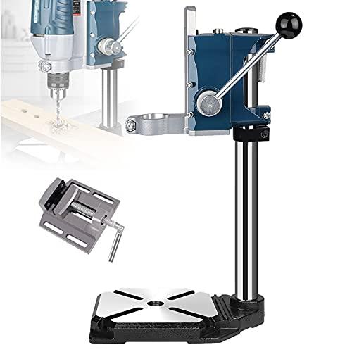 YAOYAOO Soporte para Taladro Vertical, Taladro de Columna Stayer Vertical Ajustable Soporte Universal Banco de Trabajo Rotación de 90°, Carrera Máx: 60mm