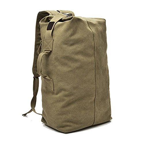Große Kapazität Travel Climbing Bag Tactical Military Seesack Top Load Double Strap Canvas Rucksack
