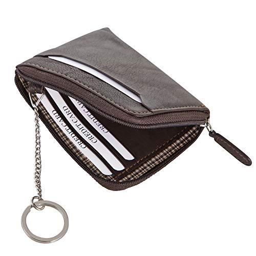Rada Schlüsseletui Tesoro Sporty Schlüsselmäppchen mit 7 Kreditkartenfächer und Schlüsselring, Kreditkarten Tasche braun