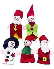 PRETYZOOM 5 szt. urocze rodzice dziecko Boże Narodzenie paleki z palcem zestawy kreatywne dziecko uspokaja palec lalki zabawki dla dzieci historia czas zabawy