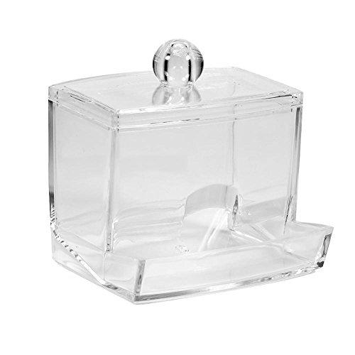 Scatola Pratica Trasparente Plastica per Cosmetici per Conservare Cotton Fioc e Dischi Struccanti Bagno Camera da Letto Soggiorno Ufficio