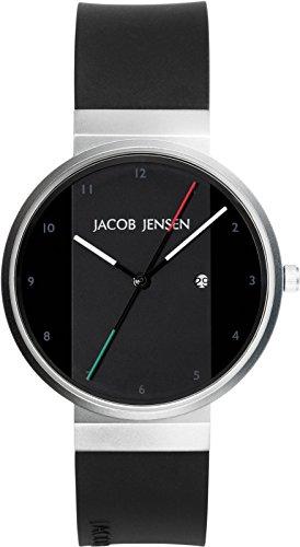 JACOB JENSEN Unisex-Armbanduhr JACOB JENSEN NEW SERIES ITEM NO. 732 Analog Quarz Kautschuk JACOB JENSEN NEW SERIES ITEM NO. 732