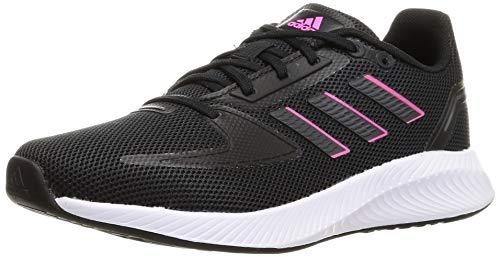adidas Damen Runfalcon 2.0 Running Shoe, Core Black/Grey/Screaming Pink, 38 EU