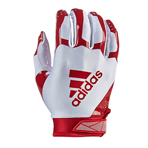 adidas ADIFAST 3.0 Football Receiver Glove, White/Red, Small