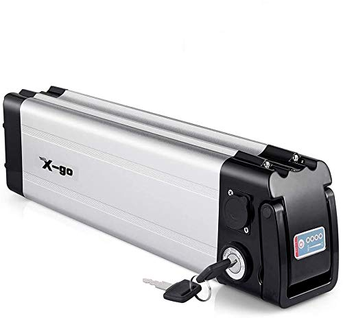 X-go Batería Eléctrica para Bicicleta, Batería De Bicicletas Eléctrica Silver Fish (36V10Ah350W)
