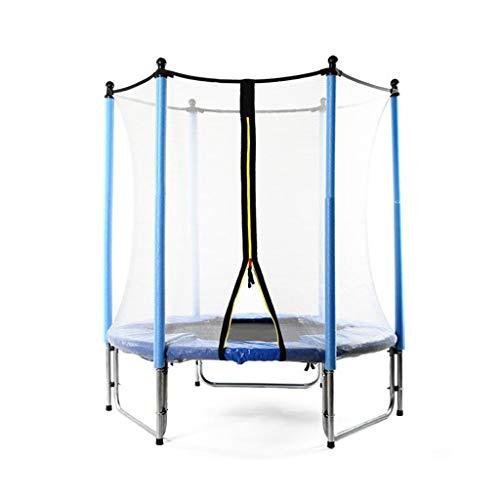 Trampolín entre padres e hijos Fitness Rebounder Exterior e Interior Jumper de juguete con red de seguridad Hoja de salto Barra de estabilidad de 6 polos Mini trampolín Ejercicio corporal
