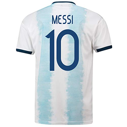 Messi #10 Argentina Home Men's Soccer Jersey- 2019/20 (Small) Blue/White
