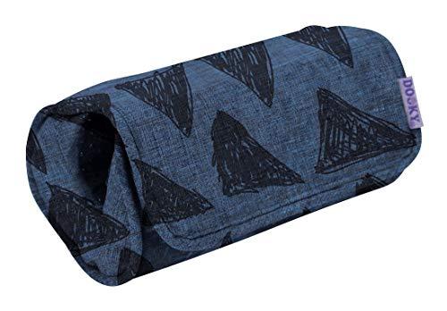 Original Dooky Arm Cushion Blue Tribal Polsterkissen Armschoner mit Klettverschluss für Babyschale universale Passform, grau