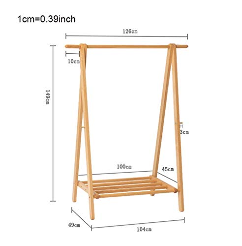 FF massief hout Scandinavische kapstok Enkele post opvouwbare beuken indoor kledingrek (Maat: canvas sectie 86cm)