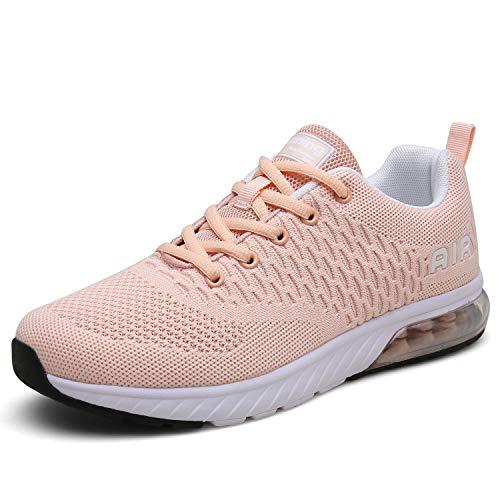 Laufschuhe rosa Mit Dämpfung Damen Turnschuhe Leicht Sportschuhe Atmungsaktiv Running Outdoor für Frauen gr.39