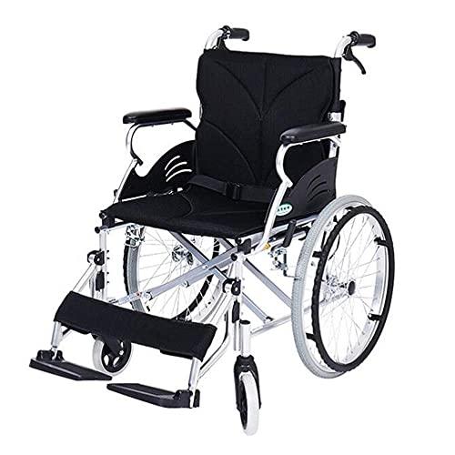 WXDP Autopropulsado Carretilla pequeña Plegable portátil de Viaje de aleación de Aluminio con Pedal de neumático Inflable Scooter para Personas Mayores discapacitadas, po