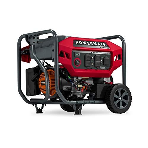 Powermate P0081300 Gas Generator 4500 Watt 49 ST, Red, Black Powered by Generac