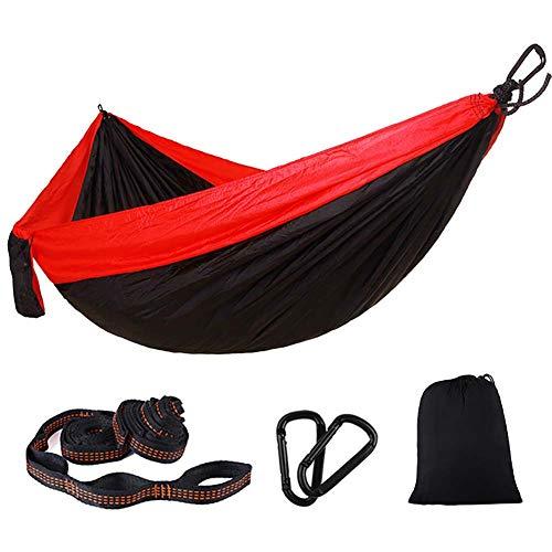 SHARESUN Outdoor oversized camping hangmat, nylon parachute doek ultra licht draagbare dubbele hangmat, volwassen kinderen schommel stoel, rugzak reizen, strand, 300 * 200cm, veelkleurig