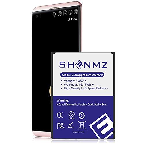 SHENMZ V20 Battery BL-44E1F 4200mAh Replacement Battery for LG V20 H910 H918 LS997 US996 VS995 Cell Phone | LG V20 Spare Battery
