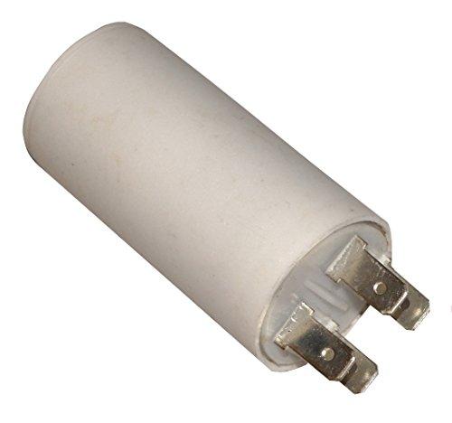 AERZETIX - Condensatore Permanente di Lavoro per Motore - 2µF 450V - 30/60mm - con 4 terminali - Corpo in Plastica Cilindrico Bianco - C10336