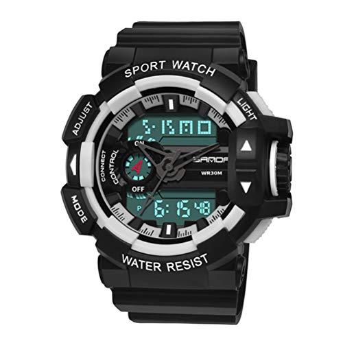 WMWX Neue Art- und Weisesport-Uhr, wasserdichte Multifunktionsuhr, wasserdichte Sport-Uhr der Paar-populären Männer,F