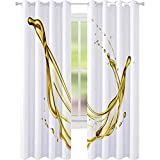 YUAZHOQI cortinas oscurecedoras de aceite de oliva aislado sobre fondo blanco 52 'x 241 cm cortina...