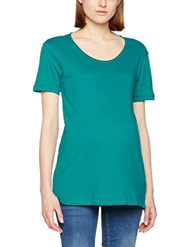 New Look Maternity Scoop Neck, T-Shirt Premaman Donna, Green (Dark Green), 44