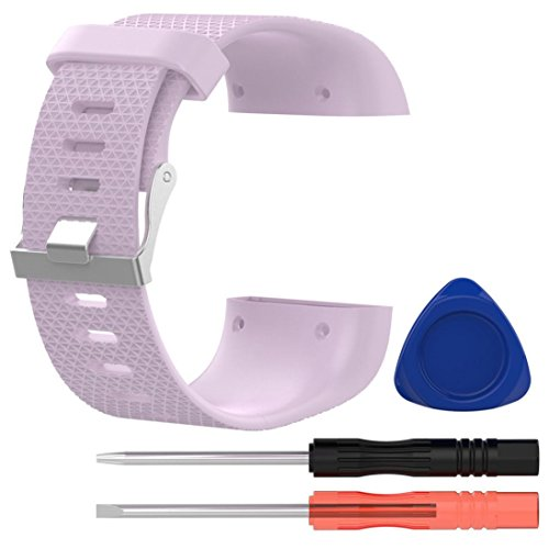 Ouneed® Für Fitbit Surge Armband , Replacement Wristband Band Strap Clasp Buckle Tool Kit For Fitbit Surge (Rosa)