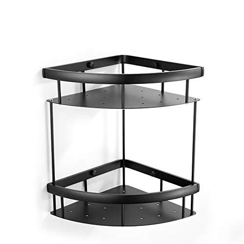 CANE Ponsvrij Zwart Ventilator vormige Badkamer Frame Dubbele Statief Wandmontage Ruimte Aluminium Racks Zijn Niet Roest En Stevig