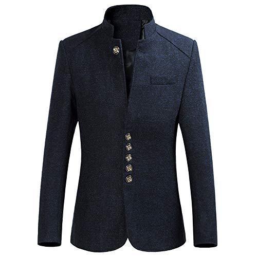 Hniunew Tweed-Mantel Herren Sakko Anzug, Anzug Bekleidung Oberteile - Anzugjacke Erwachsene Nostalgiker Blazer Suits Formale Business-Jacke Einreihige Schnalle Winterjacke Anzug Kleid