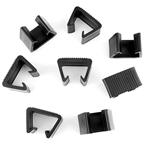 LUTER 8pcs Wicker Furniture Clips Plastic Rattan Sofa Clips Sectional Couch Sofa Alignment Connector Fasteners Clips for Outdoor Patio (Black, 5.3x3x3.7cm)
