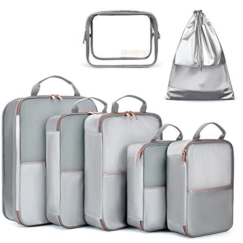 cubos de embalaje, Light FLIGHT 7 Set de cubos de embalaje para llevar en maleta, bolsas de viaje ligeras para equipaje