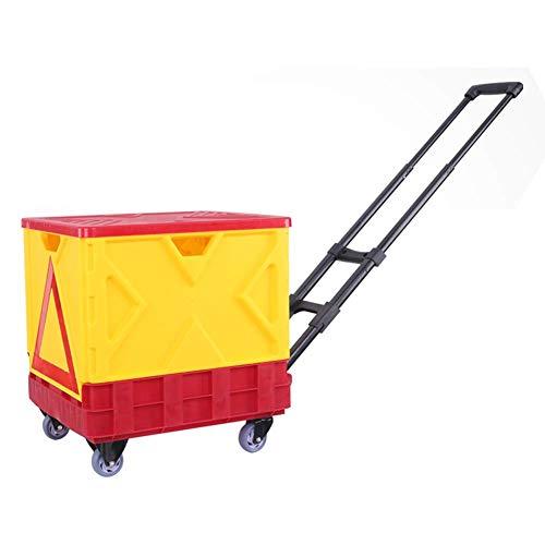 FZC-YM Carro de Almacenamiento Plegable, Carro de Herramientas de Gran Capacidad 89L, Carro de Transporte para Acampar, Carro de Compras portátil Box
