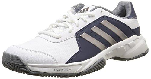 adidas Barricade Court, Herren Tennisschuhe, weiß - Blanc (FTWR White/Tech Silver Met/Midnight Grey) - Größe: 44 EU