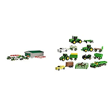 TOMY John Deere Die-cast Farm Toy 70 Piece Value Playset & John Deere Vehicle Value Set