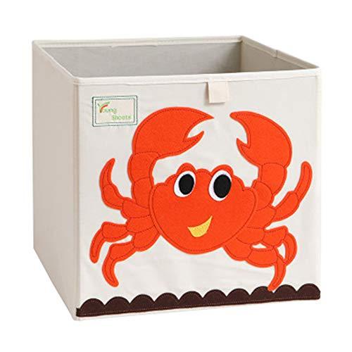 Cartoon Aufbewahrungswürfel Leinwand faltbare Spielzeug Aufbewahrungsbox für Kinder (Krabbe)