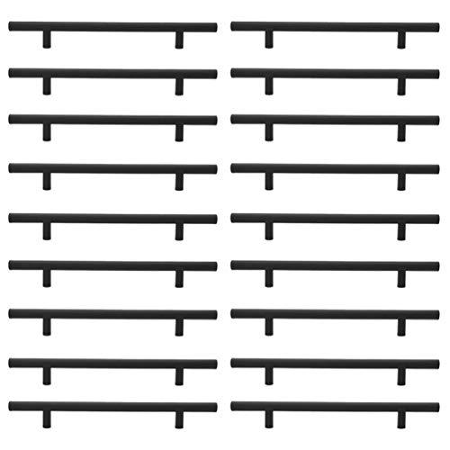 None 25Pcs Edelstahlschrank Zieht Hardware Schlafzimmer Schublade Ziehen Küchenschrank T Bar Griff Kommode Knöpfe Set (10X96x150)