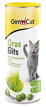 GimCat Gras Bits – Snack pour chats sans céréales et riche en vitamines à l'herbe véritable – 1 boîte (1 à 425 g)