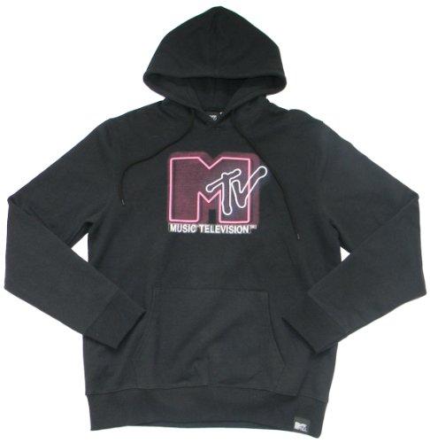 MTV, Herren Hoodie, Pink, Schwarz (M, Schwarz)