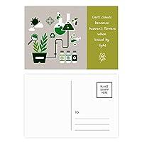 化学反応の化学ツール・ドラム 詩のポストカードセットサンクスカード郵送側20個