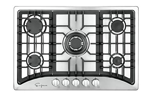 Empava 2 Designed and Engineered in USA with 2 Years US Based Manufacture Warranty, DOUBLES the usual industry warranty for an exceptional quality Empava stove top. LPG/NG Convertible (Both Nozzles Included) delivers the same maximum BTU power to propane and natural gas cooktops – Works manually w/o electricity. Capable for multi-purpose such as RVs, light cooking family, small kitchen, mobile home and outdoor use, etc. Compatible to install above any Empava 24/30 in. under-counter single wall oven. The 5 World Class Made in Italy SABAF burner gas cooktops by Empava features one of the latest flame failure thermocouples auto shut off protection technology that prevents gas leak to keep your home and family safe.