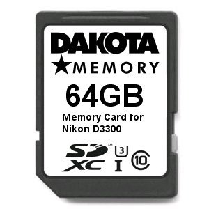 64GB Ultra Highspeed Memory Card for Nikon D3300