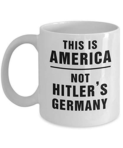 N\A Dies ist Amerika Nicht Hitlers Deutschland Impeach Trump Kaffeetasse Resist Anti Trump Tassen Idee für Demokraten Liberale Feministin