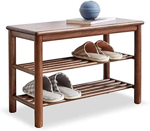 YLCJ schoenenkast van massief hout, schoenenbank, Scandinavisch eikenhout, modern, minimalistisch, salontafel, schoenenkast (kleur: A)