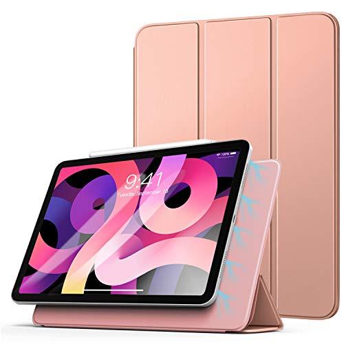 TiMOVO Hülle für iPad Air 4. Generation 10.9 Zoll 2020/iPad Pro 11 Zoll 2018, Schutzhülle mit Auto Schlaf/Aufwach Funktion, Magnetisch Befestigung & Ladung für iPencil 2 - Rose Gold