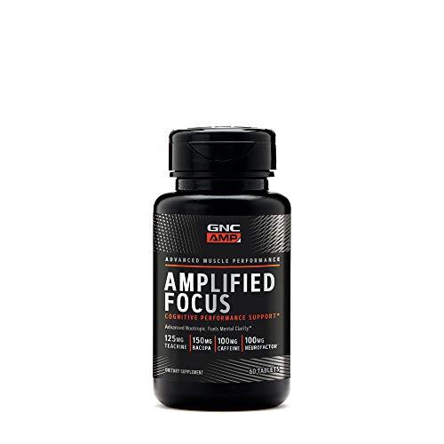 GNC AMP Amplified Focus, 60 Tablets, Fuels Mental Clarity