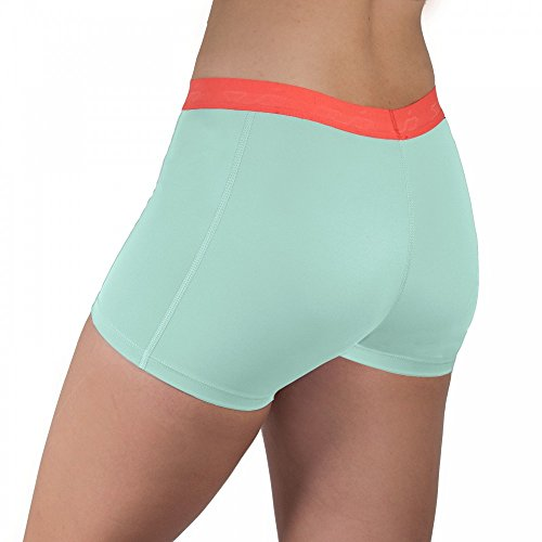 Sub Sports Womens Compression Shorts Hot Pants -Aqua UK S