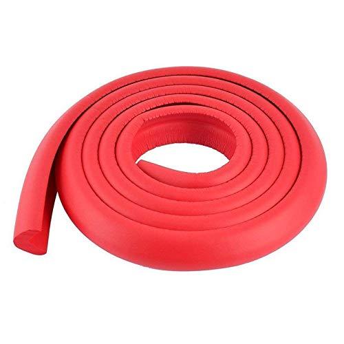 KOMOSO Protector de esquina de seguridad de espuma protector de cojín borde de mesa 2 m tira de parachoques para rojo