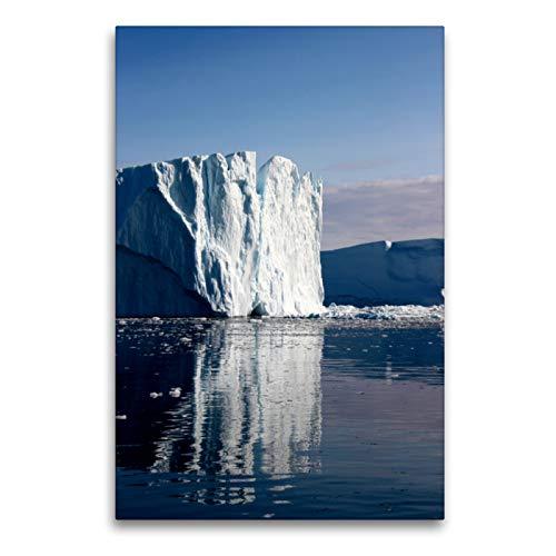 CALVENDO Premium Textil-Leinwand 60 x 90 cm Hoch-Format Die Eisberge von Ilulissat, Leinwanddruck von Armin Joecks