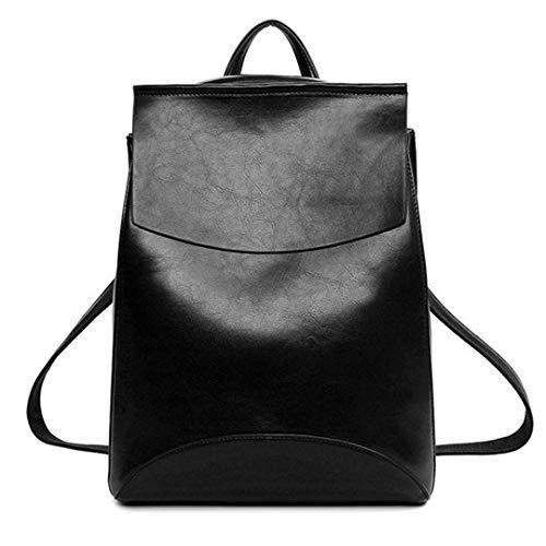 Zaini di cuoio della gioventù dello zaino delle donne per la borsa a tracolla femminile della scuola black