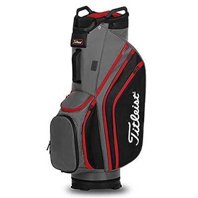 Titleist Cart 14 Lightweight Golf Bag - Charcoal/Black/Red